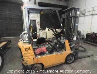 Caterpillar GC18 Forklift with 2,362 hours showing.  Propane. Lift Capacity 2,700lbs