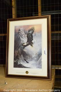 Soaring Bald Eagle Print by Ted Blaylock Framed and Matted
