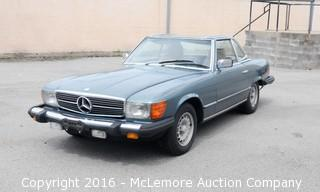 1982 Mercedes-Benz 380SL Convertible with Removable Hard Top with 3.7L V8 Engine with Automatic Transmission