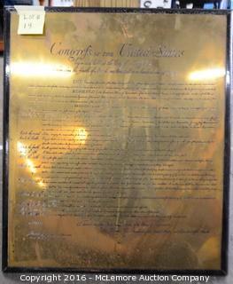 U. S. Constitution Framed Item