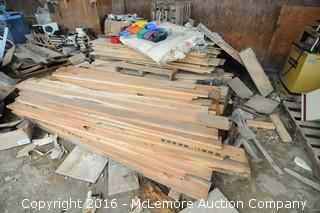 Stack of Approximately 400 Board Feet of Cherry Lumber