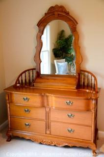 Dresser with Mirror 6 Drawers