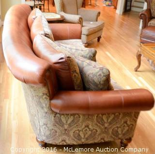 Leather and Upholster Sofa