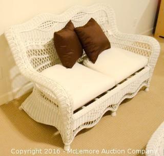 Wicker Love Seat,