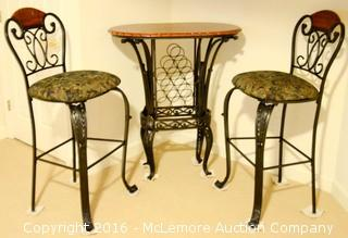 Bar Table With Two Chairs