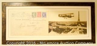 Pair Of Enlargements Of Postcards Souvenir Of Paris
