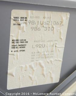 2001 Porsche Boxster Convertible with 2.7L H6 DOHC 24V engine