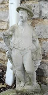 Statue Of A Boy With A Hat