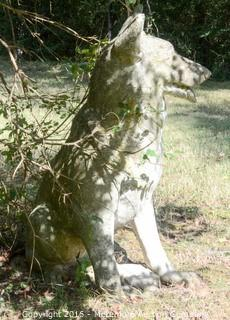 Concrete German Shepherd Dog Statue