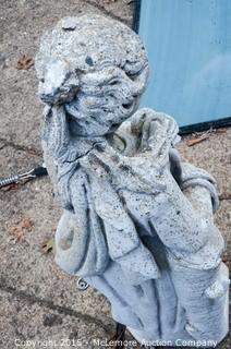 Concrete Statue Of A Lady Arms Folded