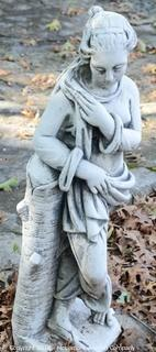 Concrete Statue Of A Woman Folded Arms
