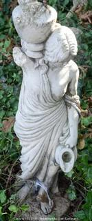 Statue of a Woman With Broken Urn And Pitcher