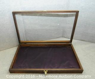 Display Case Box with Glass Top