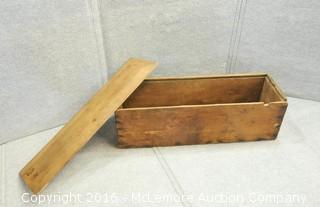 Vintage Wooden Box with Dovetail Corners