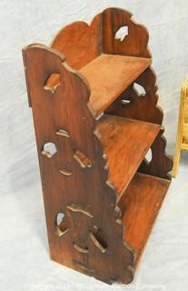 Wooden Shelf and Magazine Rack