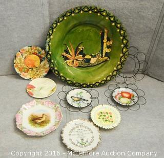 Assortment of Home Decor Plates