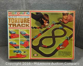 Vintage 1960's Motorific Alcan Highway Torture Track by Ideal in Original Box