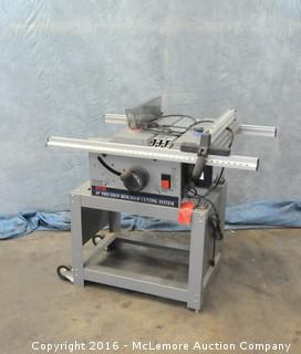 """Ryobi 10"""" Precision Benchtop Cutting System on Stand with Ryobi Vacuum with Dust Table System"""