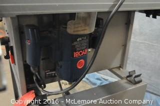 """Ryobi 10"""" Precision Benchtop Cutting System on Stand"""