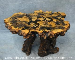 Redwood Burle Slab Conversation Table
