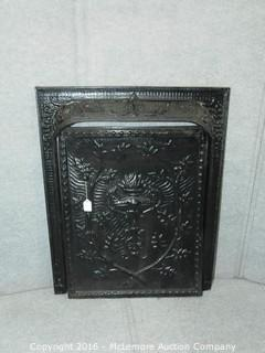Victorian Cast Iron Fireplace Screen and Surround