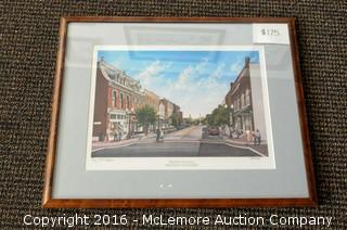 Framed and Mated Limited Edition, 284 of 500 of 4th & Main of Franklin by Ben Johnson