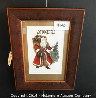 Noel Santa Etching by Barbie Tidwell, Limited Edition, 716/1200