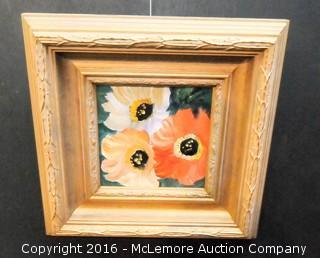 Acrylic on Canvas Flowers by Anna Sandhu Ray