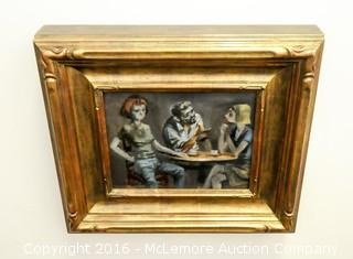 One of a Kind Framed Original Oil On Canvas by John Alan Maxwell