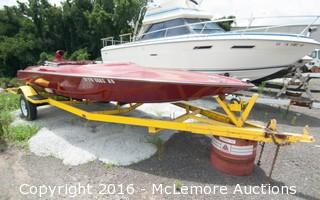 Speed Boat with Oldsmobile V8 Engine with Trailer